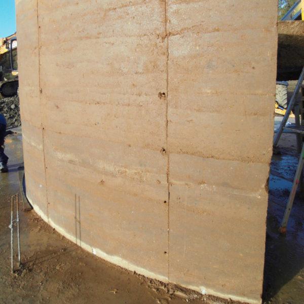 Maçonnerie terre crue - éco-construction gers - restauration bâti ancien - Arcilla-Rossello